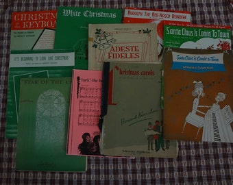 Bulk COLLECTION of CHRISTMAS Sheet Music 1920-80's