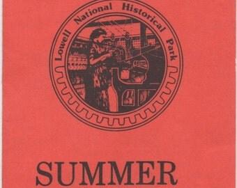 Calendar of Lowell Special Events, Brochure, Summer 1980, Lowell, Massachusetts, Lowell National Historical Park Ethnic Festivals good shape
