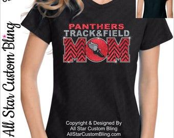 Track Mom Shirt, Bling Track Shirt, Mom Track Shirt, Custom Track Mom Shirt, Personalized Track Shirt, Track Mom Bling Shirt
