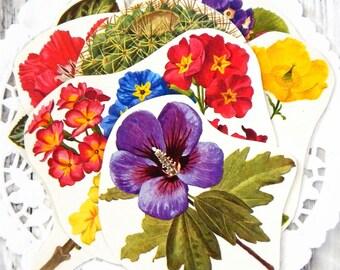 Vintage Flower Ephemera. Flower Prints. Vintage Garden Flowers. Junk Journal Paper. Journal Supply. Collage Pack. Botanical Ephemera.
