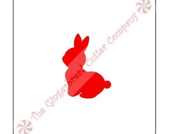 Cottontail Bunny Cookie Stencil