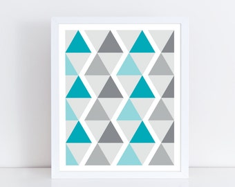 Geometric printable / Geometric wall art / Abstract printable / Geometric print art / Pattern print / Home wall art / Digital download print