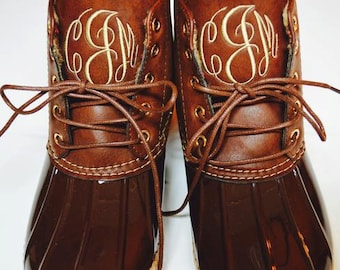 Monogrammed Duck Boots - Duck Boots - Monogram Duck Boots - Duck Boots Monogrammed - Rubberp Boots - Gifts for Her - Monogram Boots - Shoes