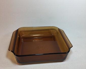 Vintage Anchor Hocking Amber Square Baking Pan