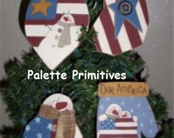 Americana Ornies E-pattern/Instant Download