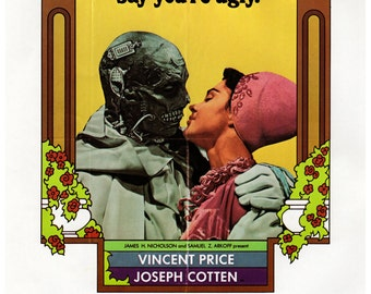 "Vintage Horror Science Fiction Movie Poster Print, 1971, The Abominable dr. Phibes, PMSF 11"" x 14"""