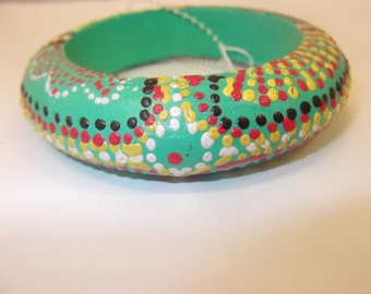 Hand Painted Wood Bangle