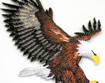 Awesome Details American Bald Eagle Iron on Patch Beautiful Details Eagle Iron or Sew On patch by Cedar Creek patch Shop on Etsy