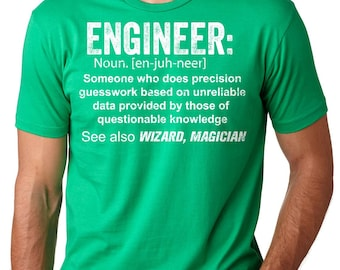 Engineer T-Shirt Gift For Engineer Funny Engineer Definition Tee Shirt