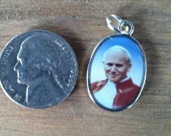 Saint Pope John Paul II Holy Medal Reversible in color