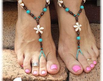Nautical Foot jewelry • Barefoot Sandals • Foot Jewelry • Footless Sandal • Beach Sandals • Boho Jewelry • Tropical Jewelry • Starfish