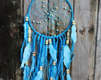 Expanded Ocean Blue Dream Catcher