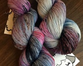 "Moon Pie Merino 75/25 Hand-Dyed Speckled Sock Yarn -463yds ""Experiment 092"""