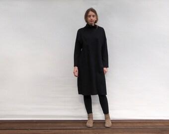 Black Dress Turtleneck Dress Little Black Dress Women's Clothing