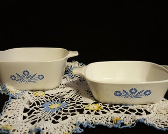 Corning Ware Petite Pans Blue Cornflower set of two
