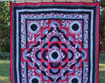 Handmade Quilt:  Red and Black