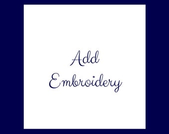 Add Embroidery to a Cheer Bow order