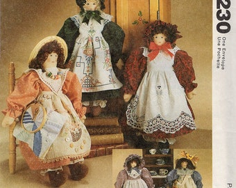 McCall's 7230 UNCUT Heirloom Doll Pattern