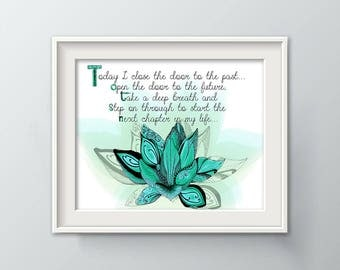 Lotus Wall Decor, New Beginning, Best Friend Gift, Housewarming Gift, Unique Gift, Gift for Bride, Adoption Gift, Wall Art Print P1098C