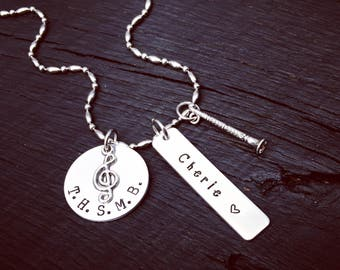 Clarinet Necklace | Clarinet Jewelry | Band Necklace | Band Jewelry | High School Marching Band Jewelry | Music Jewelry | Band Gift