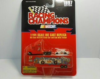 Cartoon Network Racing Champions Diecast Tractor Trailer with Car 1997