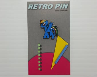 Rainbow Dash MLP Metal Enamel Clutch Hat Backpack Flair Vest Pin