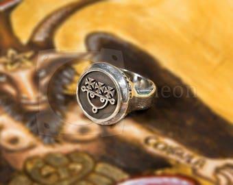 Ars Goetia Sigil, Signet Ring, 925 Silver