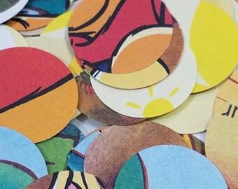 250, 1 inch confetti circles, Winnie-the-Pooh storybook