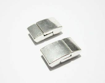 3pcs 10mm Flat magnetic clasp 10x2mm camber flat leather clasp