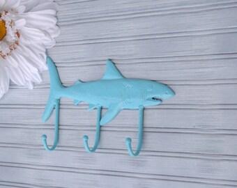 Shark Wall Hook. Shark Decor. Wall Decor. Shark hook. Shark Art. Beach Decor. Nautical Decor. Coastal Decor. Fish Decor