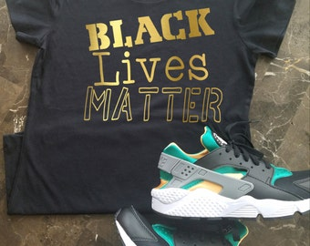 Black Lives Matter Shirt, BLM Shirt, Equal Rights Shirt, Black History Shirt, Equal Rights Activist Shirt, Black and Gold