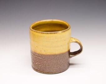 Salt Fired High-Iron Stoneware Mug - Yellow Glaze, 0425022