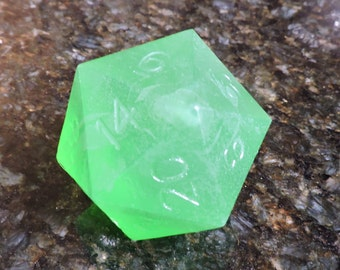 Custom D-20 Soap Dice, Giant soap, Gamer Soap, Nerdy Soap, Gamer dice, RPG dice, Role Play soap, RPG soap, Dungeon Guide Soap, Elf soap