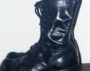 Vintage Corcoran Jump Boots Style 1500 Cap Toe Boots. Men's Size US 9D, UK 8, Eur 42, Women's US 11, Uk 8. Made in Usa