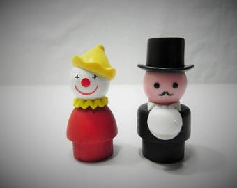 Fisher Price Little People Ringmaster and Circus Clown - #135