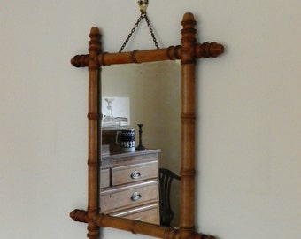 french antique mirror with faux bamboo frame wall mirror antique wood framed mirror