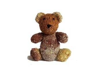 Caden the Hand Knit Bear, Stuffed Toy, cute Bear, Handmade, Stuffed Animal, baby gift, soft bear, bear plushie, bear softie, plush bear
