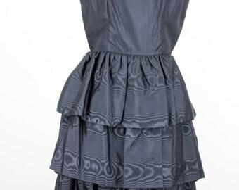 Joy Frocks Vintage 1960s Moire Party Dress