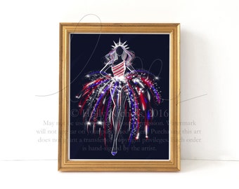 Firework (Fashion Illustration Print)