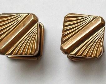 Vintage cufflinks gold plated