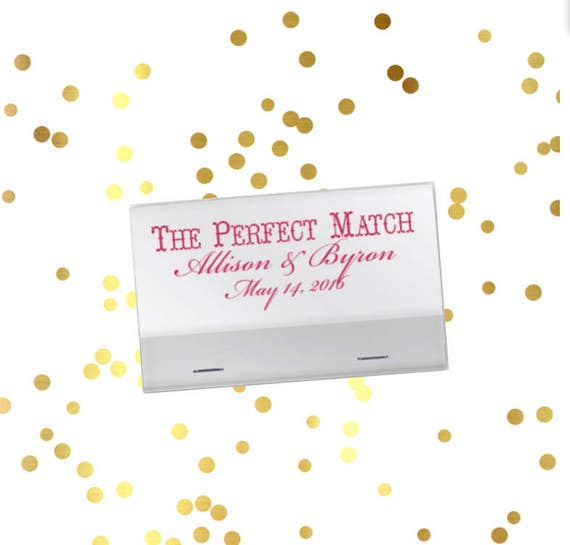 Perfect match wedding matches, wedding reception matches, reception party favor, sparkler send off matchbooks, sparkler matches