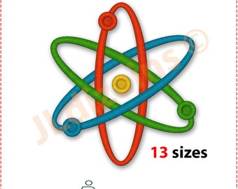 Atom Embroidery Design. Science embroidery design. Atom symbol embroidery. Embroidery science. Embroidery atom. Machine embroidery design