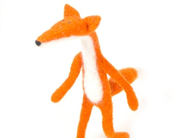 Red Fox, Needle Felted Fox, Wool Fox, Pocket Fox