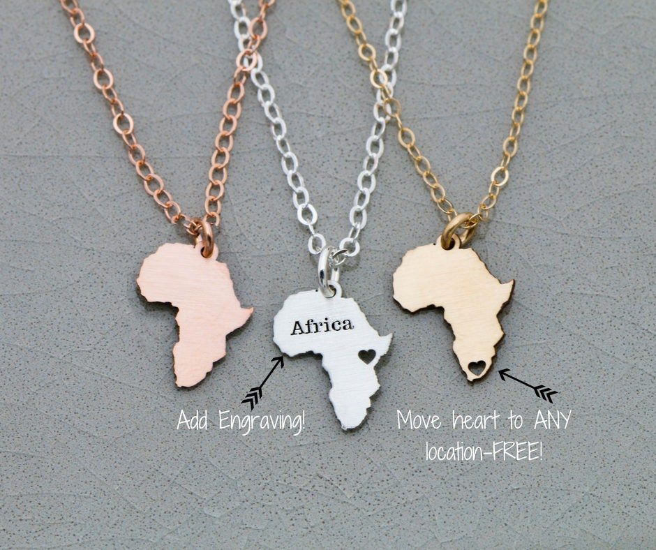 FREE SHIP Africa Gift Gold Africa Jewelry African Country