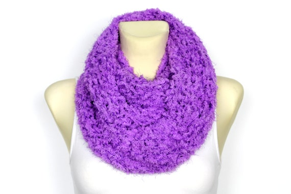 Snood Circle Scarves Chunky Cowl Snood Scarf Women Festival Soft Handknit Snood Faux Fur Snood Warm Chunky Snood Scarf Winter Large Gift