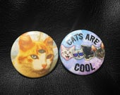 Cats Are Cool! - 2 Cool Cat buttons / Badges