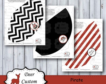Pirate Party Hats | Pirate Birthday Hats | Pirate Birthday | Instant Download | Printable | Jolly Roger Flag