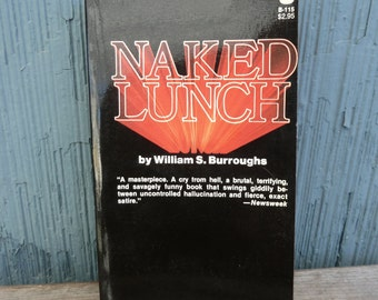 Naked Lunch by William S Burroughs, Grove Press book from 1977