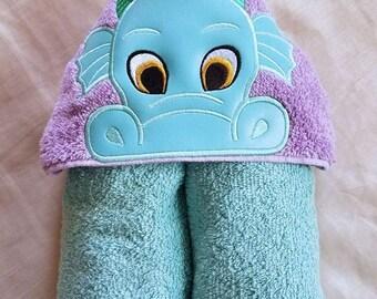 Kids Hooded Towel,Dragon Boy Hooded Towel,Child's Hooded Towel,Personalized Hooded Towel,Hooded Bath Towel,Hooded Beach Towel,Ready To Ship