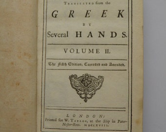 Plutarch's Morals 5th Edition 1718 Volume 2